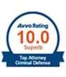 Avvo rating 10.0 superb top attorney criminal defence