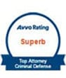 Avvo rating superb top attorney criminal defence