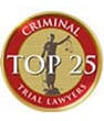 Criminal trail lawyers top 25